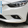 Car front fog lamp  lights eyebrow ABS Chrome trims 2pcs/set for Mazda 6 2014 2015 Atenza accessories