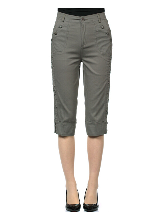 Popular Womens Cotton Capri Pants-Buy Cheap Womens Cotton Capri ...