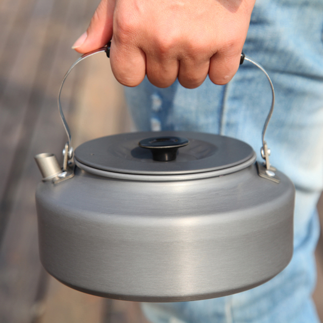 Aluminum Camping Water Kettle Teapot Coffee Pot Outdoor Tableware 0.8L/1.1L/1.2L/1.6L Picnic Kettle Teapot Hiking Water Kettle