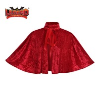 medieval Victorian Steampunk Velvet Collar Capelet red mini cape