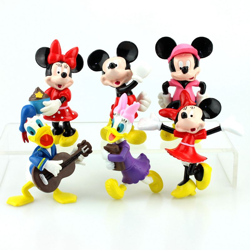 Toys & Hobbies Disney Toys 6pcs/lot Mickey Mouse Cartoon Anime Pvc Action Figures Minnie Mouse Figurines Collectible Dolls Kids Toys For Girls To Rank First Among Similar Products