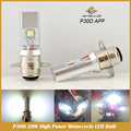 P30D APF Motorcycle Led Headlight 1200LM 20W High Low Beam Fit most Motorcycle Scooter bulb Headlamp Negative Ground