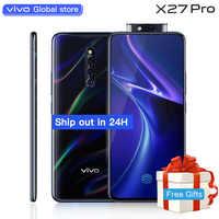 Vivo X27Pro téléphone portable celulaire 6.7 pouces écran Snapdragon710 Octa Core 8 GB 256 GB empreinte digitale HiFi appareil photo élévateur téléphone Mobile