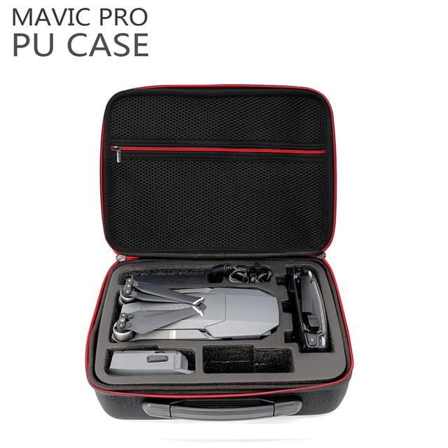 New PU Leather Water Resistant DJI Mavic Pro Portable Bag Carry Case Handbag Box for DJI Mavic Pro Drone Accessories