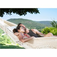 Ultra Large 2 Person Cotton Hammock With Tassel Garden Swing Bed Outdoor Double Hamac Rede Hangmat