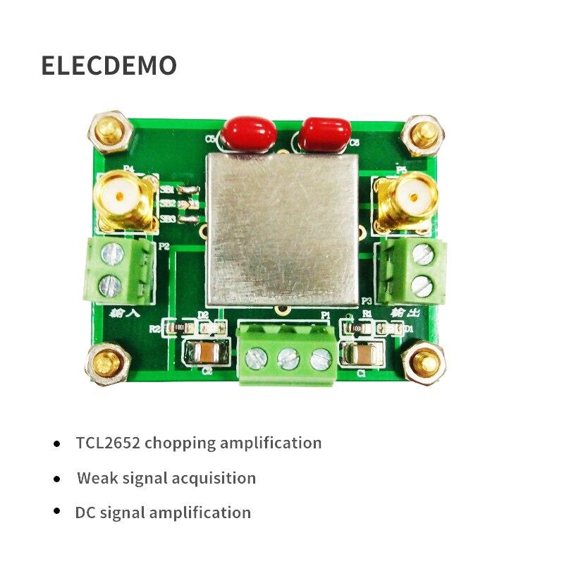 TLC2652 Module Weak Signal Acquisition Amplifier Module DC Signal Amplification Chopper Amplifier Function demo Board-in Demo Board Accessories from Computer & Office