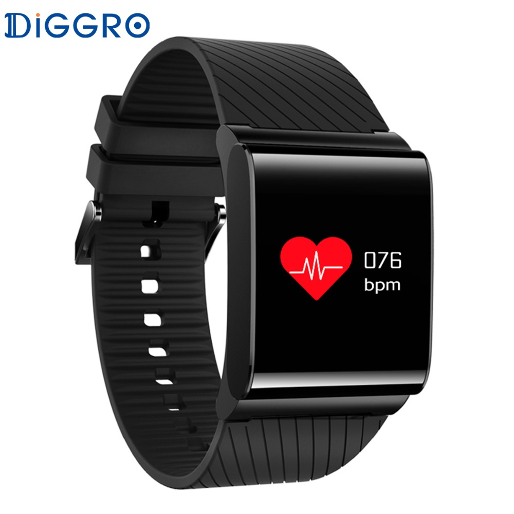 NEW Diggro DB-01 Colorful Screen Smart Wristband Blood Pressure Blood Oxygen Monitor Heart Rate Sport Bracelet
