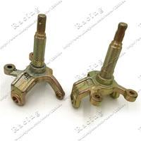 1SET Steering Strut Knuckle Spindles with Drum brake Wheel Hubs Fit For China ATV 150cc 200cc 250cc Go Kart Buggy ATV Bike Parts