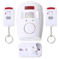 Home Security Sensor de Movimento PIR Alarme com 1 Ajustável Suporte De Montagem Na Parede e 2 Galpão Garagem Controles Remotos para Casa caravana