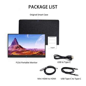 Image 5 - 15.6 polegada LCD Monitor Portátil Ultrafino 1080 P Jogo Do Monitor IPS HD USB Tipo C Dispaly para laptop telefone XBOX interruptor e PS4