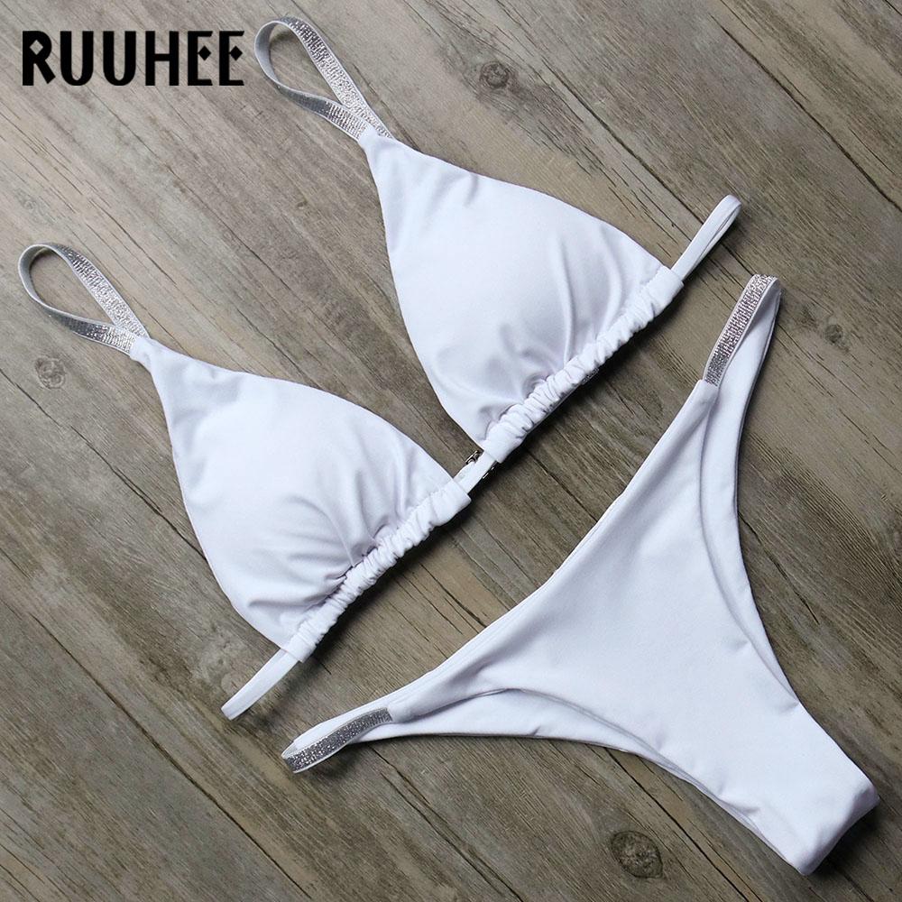 Buy RUUHEE Brazilian Bikini Swimwear Women Swimsuit Micro Bikini Set Sexy Bathing Suit 2018 Beachwear Swimming Suit Padded Swim Wear