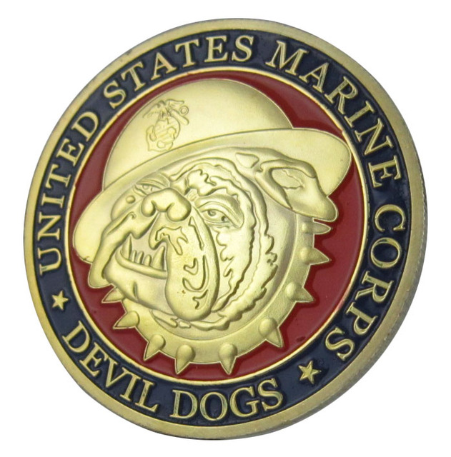 US $2 85 |United States Marines Corps USMC Devil dogs semper fidelis 24K  Gold Plated Challenge Coin/Medal 1037#-in Pins & Badges from Home & Garden  on