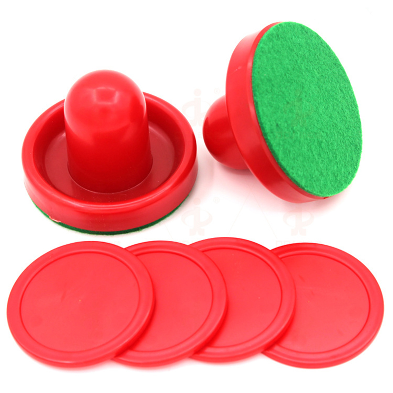 Air Hockey Accessories 76mm Goalies & 52mm Puck Felt Pusher Mallet Adult Table Games Entertaining Toys