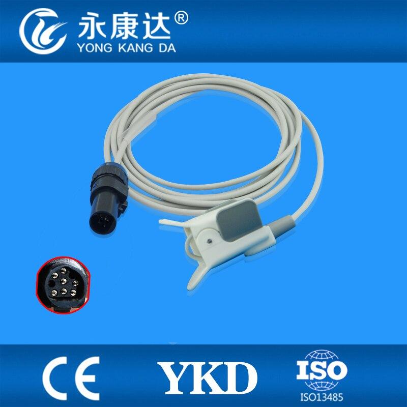 Ohmeda pädiatrischen finger clip spo2 sensor, länge 3 meter/7pin spo2 sonde, medizinische TPU kabel
