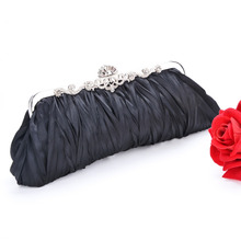 Fashion Clutch Purse Bag Bride Bridesmaid Wedding Bags Satin Elegant Evening Handbag