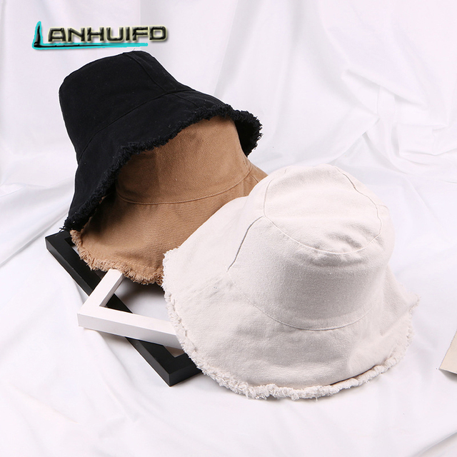 LANHUIFD Canvas Trimmings Fisherman Hat Male And Female Couples Travel Shade  Bucket Hat Student Panama Wild 141aa4d043a