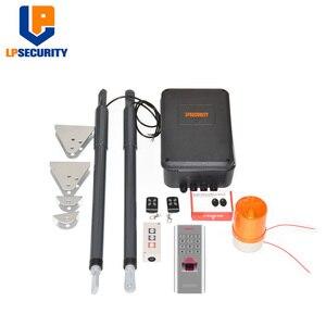 Image 1 - 12VDC 200kg per leaf Swing Gate Opener system Electrical gate motor with optional outdoor fingerprint keypad reader