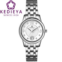 KEDIEYA Watch Shop Ladies 316L Stainless Steel 50M Water Resistant Quartz Watch Best Watches for Women Gift
