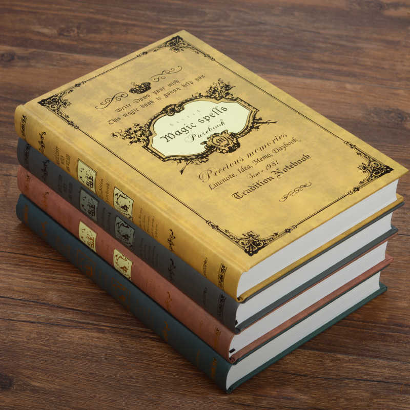 European Style Vintage Hardcover Magic spells notebook Diary