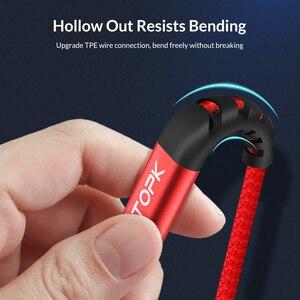 Image 5 - TOPK [3 Pack] 1 M Cao Độ Bền Kéo Nylon Bện 2A Nhanh Micro USB Cable đối với Samsung Xiaomi huawei LG Máy Tính Bảng Android USB Cáp Dữ Liệu
