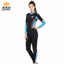 Womens Wet Suit 3mm Scuba Neoprene Wetsuits Anti-UV Diving Suits Long Sleeve Surfing Jumpsuit for Diving Snorkeling Equipment(China)