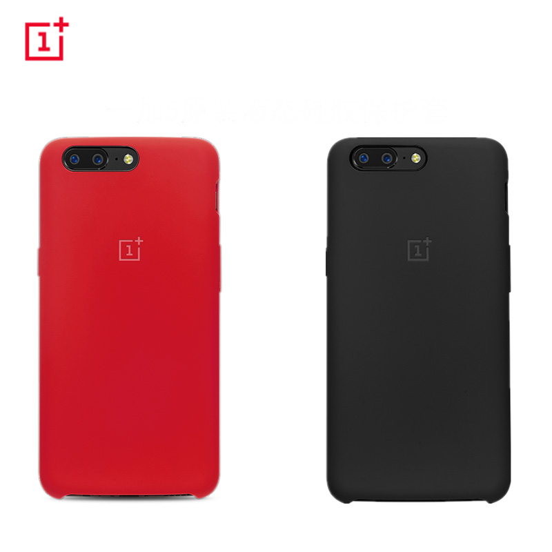 Original Official Soft Silicon Case for Oneplus 5 Back Cover Oneplus5 Phone Shell Cases and Covers