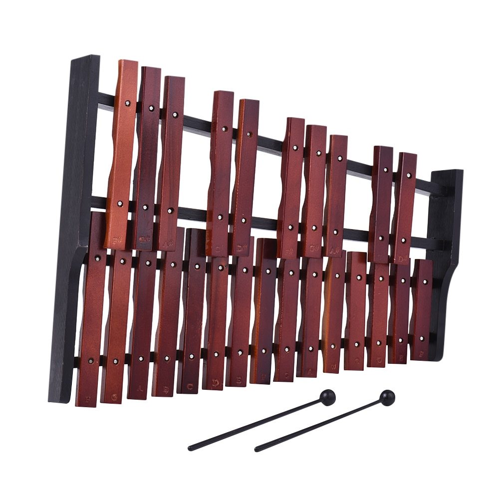 ammoon Hot Sale 25 Note Wooden Xylophone Percussion Early Educational Musical Instrument Gift for Kids Children