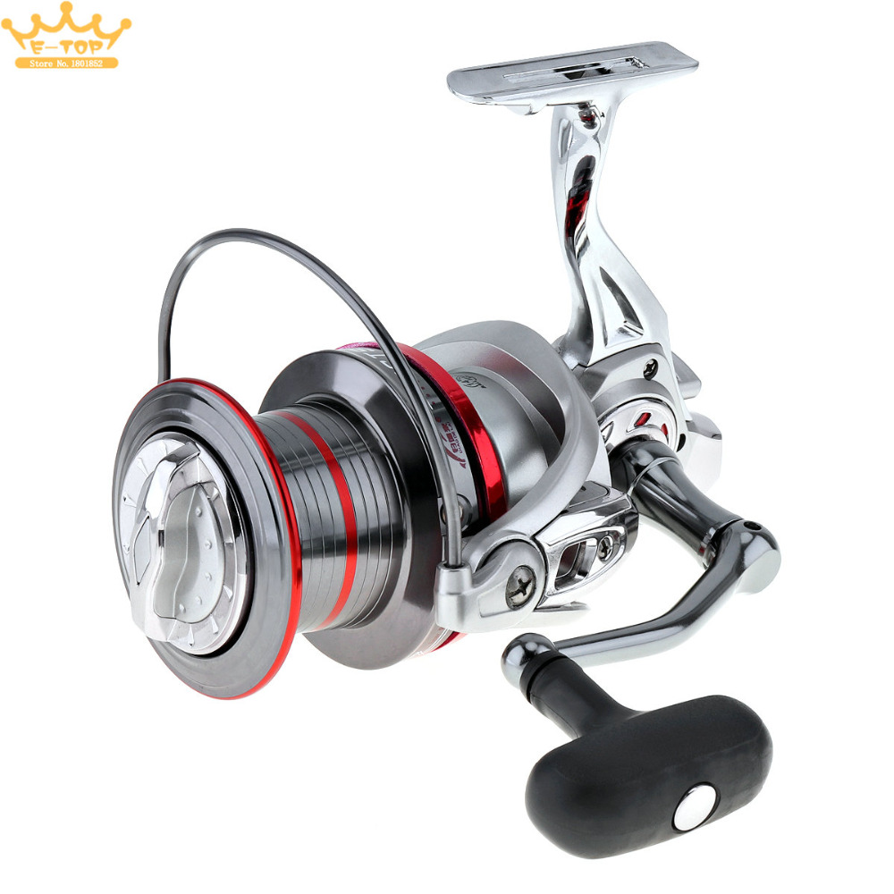 12000 Series 14+1 Ball Bearing Full Metal Spinning Fishing Reel Long Distance Surfcasting Wheel with Larger Spool ball bearing professional long distance casting spinning fishing reel surfcasting reel left right spinning reel