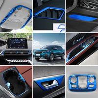 Blue Steel  Interior Decoration Cover Trim 28PCS For Peugeot 3008 GT 2017-2018