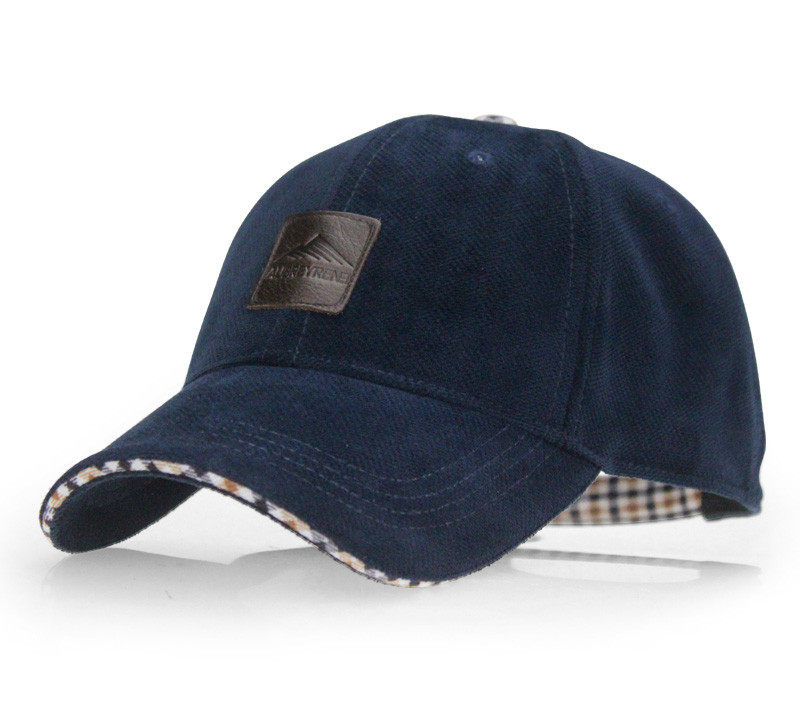 Brushed Cotton Baseball Cap - Blue Cap Front Angle View