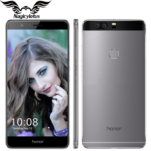 Оригинал huawei honor v8 4g lte мобильный телефон 5.7 дюймов 4 ГБ оперативной памяти 32 ГБ ROM Android 6.0 Кирин 950 Octa Core Dual Задняя 12.0MP 3 камера