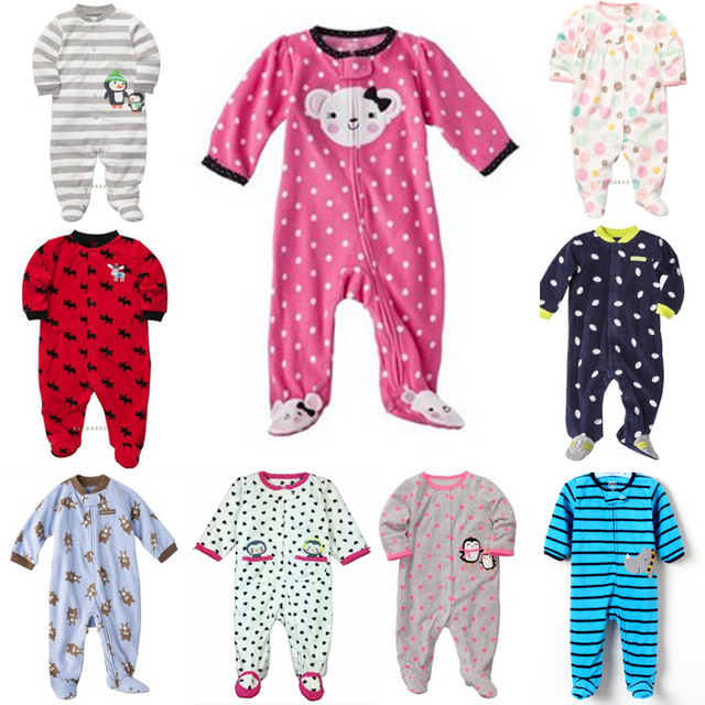 d67c49638 2015 New carter s polar fleece fabric rompers baby boys girls kids ...