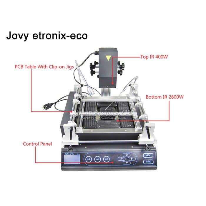 Free tax Promotion bga rework station Jovy system Jetronix Eco three zones semi automatic reball station dark infrared heating