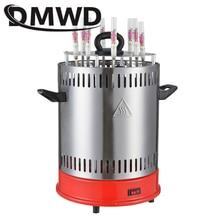 DMWD электрическая печь-гриль барбекю машина шашлык Бездымный Крытый Открытый Автоматический вращающийся нагревательный таймер ЕС США