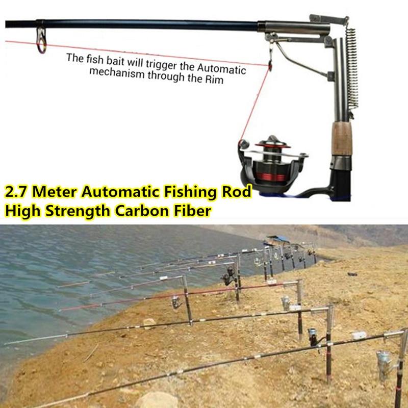 ФОТО 1x 2.7m Carbon Fiber Fishing rod Folding Automatic Spring steel fishing rod with Holder for Ocean sea Boat Beach Stream Fishing