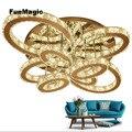 Post-moderne Romantische Kristall Diamant LED Oval Ring Decke Leuchte LED Kronleuchter Wohnzimmer Dekorative LED Beleuchtung Lampe