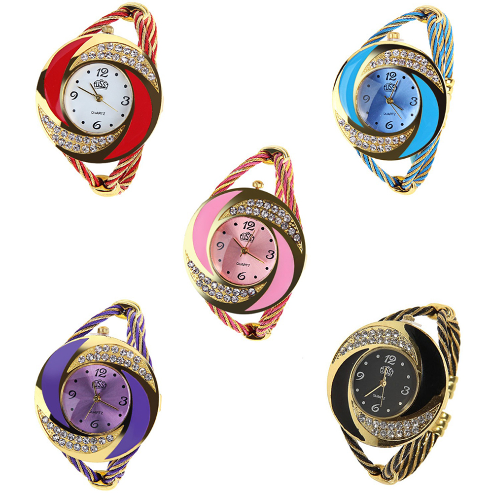 High Quality USS Top Brand Women's Watches 5 Colors Women Wrist Watch Women's Watches Ladies Wire-steel Clock Mujer Relojes