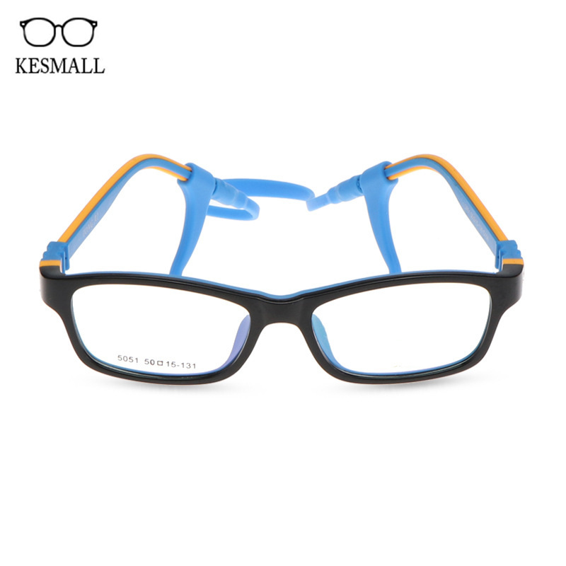 KESMALL Children TR90 Prescription Glasses Boy Girl Ultra-light Myopia Eyeglasses Gaming Eyewear Frame With Diopter Lens XN893P