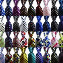 Модный мужской галстук в горошек 9 см набор шелковых галстуков золотой белый красный белый синий жаккардовый тканый Шелковый мужской галстук