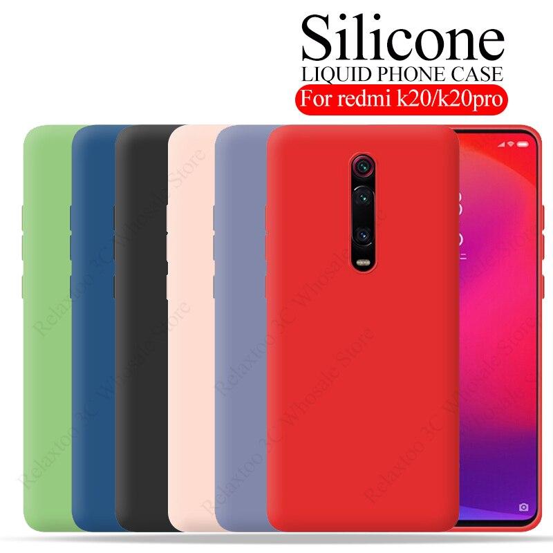 case For Xiaomi Redmi K20 Case Liquid Silicone Cover For xiaomi mi 9t Pro Case Mi9t 9 T K 20 9tpto k20pro Soft Smart Phone Coque(China)