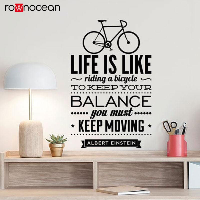 top einstein wall sticker quote brands and get shipping a