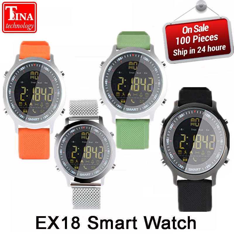 EX18 Sport Smart Watch Waterproof IP68 5ATM Passometer Ultra-long Standby Xwatch Swimming Smartwatch Bluetooth Watch IOS Android