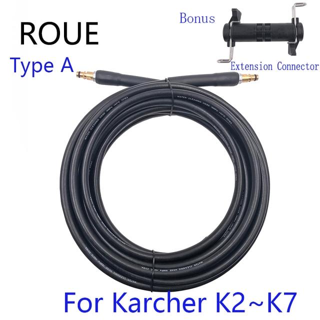Tuyau dextension pistolet de lavage de voiture, 6 8 10 15 mètres, raccord rapide, tuyau à haute pression, fonctionnement pour Karcher série K