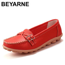 New 2016 women genuine leather shoes women flats slip on woman loafer wholesale flats shoes size 35~40 Y036