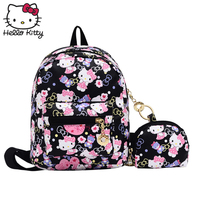 3WAY Hello Kitty Backpack Shoulder Crossbody Bag 2019 Fashion New Style Girl Leather Cute Cartoon Pink Kids SchoolBag Plush Gift