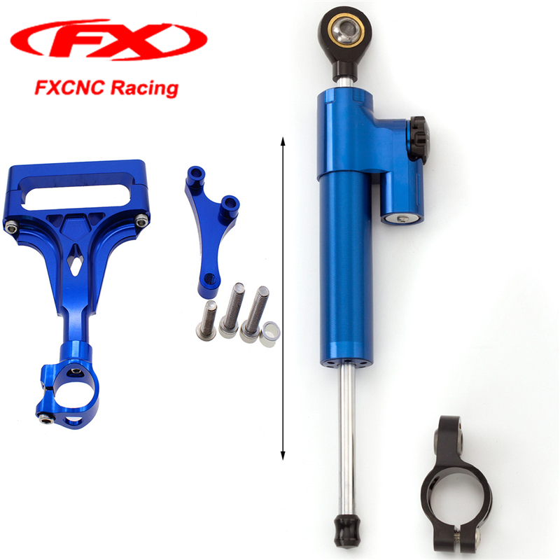 CNC Motorcycle Accessories Blue Steering Stabilizer Damper Safety Control Brackets for KAWASAKI Z1000 Z750 2004 2005 03-09