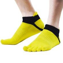 High Quality five finger toe socks Men's Socks Cotton Ventilate Mesh toe socks 1Pair
