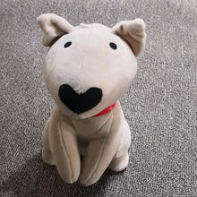bull terrier dog toy birthday gift cute plushies kawaii present novelty plush doll 17cm