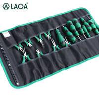 LAOA Oxford Tuch Roll Werkzeug Tasche für Schraubendreher Toolkit zu Lagerung Mini Zange Elektriker Workbag Ohne werkzeuge LA212815