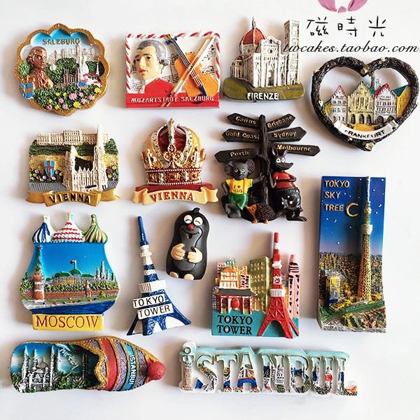 kitchen magnets farm house table aliexpress com buy japan austria czech republic russia turkey australia fridge 3d magnet sticker travel souvenir decoration